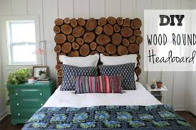 homemade wood headboards diy wood round headboard