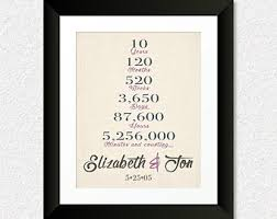 10 year anniversary gift for 1 year anniversary present one year wedding anniversary gift