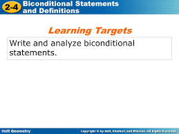 holt geometry 2 4 biconditional statements and definitions 2 4
