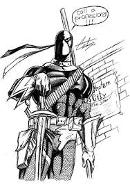 deathstroke coloring pages super heroes printable coloring pages