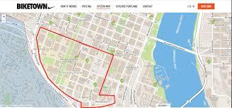 Portland Parking Map by Super Hub Zones Biketown