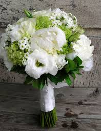 White Hydrangea Bouquet Bridal Bouquet Of Peonies White Lizianthus White Roses Green