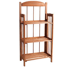 amazon com lavish home 3 shelf light bookcase wood finish