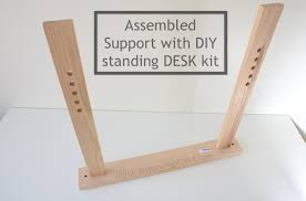 Adjustable Standing Desk Diy Assembled Support With Diy Standing Desk Kit