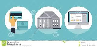 online banking flat icons stock image image 36181921