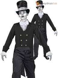 mens corpse groom costume halloween ghost fancy dress horror