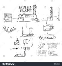 boiler room equipment engineering systems sketch stock
