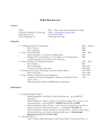 Work Experience In Resume Sample by Examples Of Academic Resume Student Resume Cipanewsletter