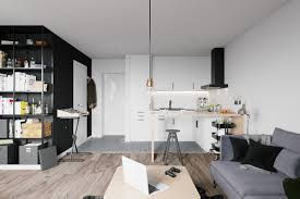 scandinavian apartment scandinavian apartment black feature wall and bookcase minimalist