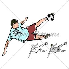soccer player sketch gl stock images