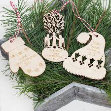 christmas hat personalised tree ornament by wooden toy gallery