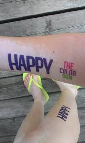 add some color under each eye with the color run eyeblack face