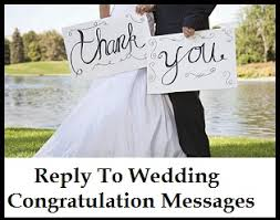 congratulation messages reply to wedding congratulation messages