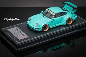 porsche rwb rwb tiffany u2013 mint green 964 1 43 model u2013 rauh welt begriff hong