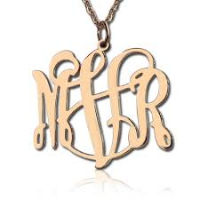 personalized monogram necklace personalized monogram necklace gold