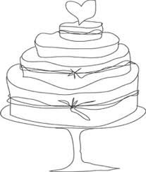 wedding cake outline the cheesebox wedding cakes