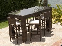 5 piece patio table and chairs source outdoor zen 7 piece wicker bar height set wicker com