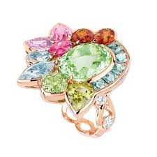 coloured gemstones rings images Granville green tourmaline ring with multi coloured gemstones jpg