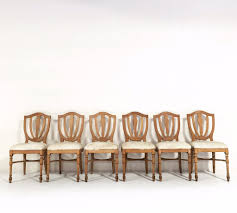 Maple Dining Room Chairs Vintage Maple Dining Chairs In Brazilian Ivory Cowhide Set Of 6