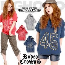 rodeo crowns 楽天市場 rodeo crowns ロデオクラウンズ ロゴプリント半袖ビッグ