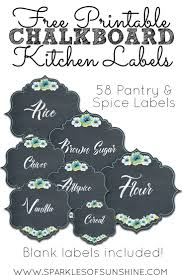 Kitchen Canister Labels 138 Best Organizing Labels Images On Pinterest Pantry Labels