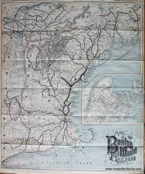 Boston Ferry Map by Map Of The Boston And Maine Railroad And Connections Sold