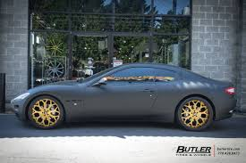 matte green maserati maserati granturismo with 22in forgiato capolovaro wheels