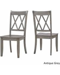 Classic Dining Chairs Slash Prices On Eleanor Double X Back Wood Dining Chair Set Of 2