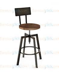 amisco architect adjustable height swivel bar stool with