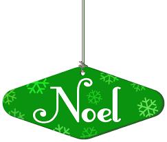 noel hanging ornament green ornaments