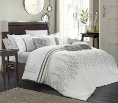 Decorate Bedroom White Comforter Bedroom White Bedspread Design With Glass Windows And Round