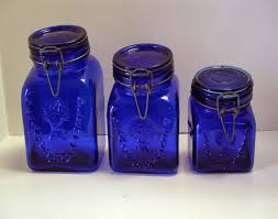 Cobalt Blue Kitchen Canisters Still Stunning Vintage Resale Vintage Granny U0027s Products Cobalt