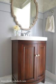 painting bathroom cabinets color ideas wallpapering our half bathroom