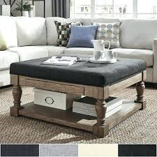 large padded coffee table large ottoman coffee table creative design oversized ottoman coffee