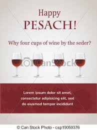 passover 4 cups happy passover 4 cups of wine for seder vectors illustration