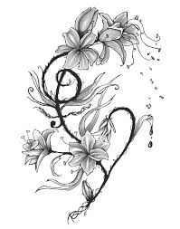 tribal lily tattoo designs pictures to pin on pinterest tattooskid