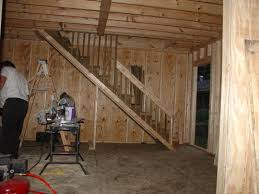 Building Interior Stairs How To Build A Two Story Shed With A Lot Of Help Dengarden