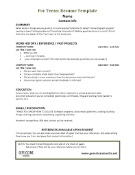 Resume Template For Teenager First Job by Teenage Resume For First Job Resume For Your Job Application