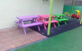 Kids Wooden Picnic Table The Boulevard Elc Kids Outdoor Furniture Kids Wooden Tables
