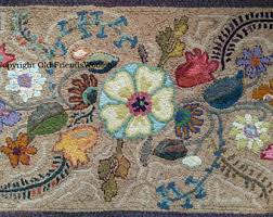 hooked rugs etsy