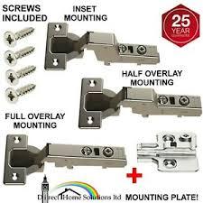 hinges for inset kitchen cabinet doors 1 x hafele concealed 110 degree hinge plate half inset