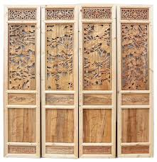 oriental lotus pond leaves 2 sided panel asian screens and