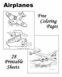 airplane coloring sheets pictures