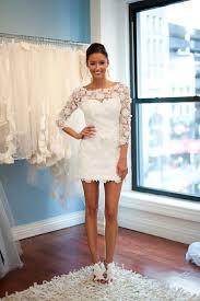 Wedding Dresses 2011 Summer Weddbook Hidden Strapless And 3 4 Long Sleeve Lace Mini Short