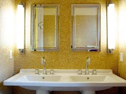 Yellow Accent Wall Yellow Accent Wall Transitional Bathroom Corynne Pless