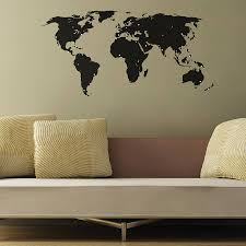 world map wall stickers by the binary box notonthehighstreet com