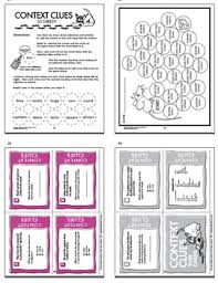 clues activities and task cards bundle 25 context clues worksheets