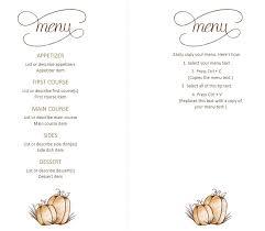 7 free sle thanksgiving menu templates printable sles