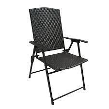 Patio Folding Chair Shop Garden Treasures Brown Steel Folding Patio Conversation Chair