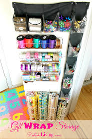Wrapping Paper Wall Mount 33 Ways To Organize Your Gift Wrapping Essentials
